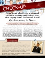 The Healthcare Professionals Legal Check-up - Issue 1