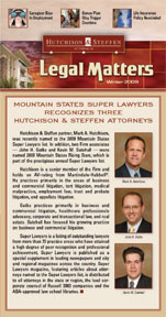 Legal Matters - Fall 2009