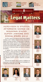 Legal Matters - Fall 2012