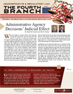 Administrative & Regulatory Law – The Fourth Branch,  Issue 1